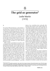 The Grid as Generator