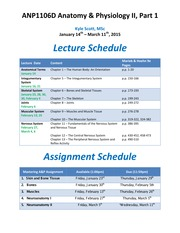 Readings and Assignment Due Dates - Scott