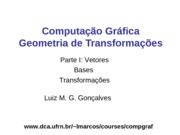 Transformacoes - 1