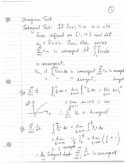 MATH 1014 Divergence Notes