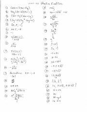 Mat 102 Practice Final Exam (Answers)