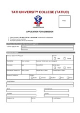 International Students Admission Form