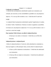 French Notes for L'indicatif vs le subjonctif
