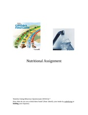 Nutritional Assignment - KP122 A