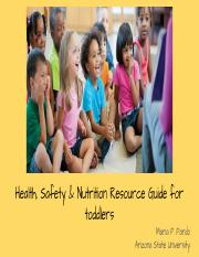 Ecd 220 Introduction To Nutrition Health And Safety In Early