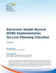 nlc-ehr-implementation-go-live-planning-checklist