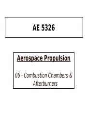 06-Combustion Chambers & Afterburners