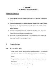 Chapter 5 The Time Value of Money (Doc)