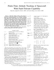 Finite-Time Attitude Tracking of Spacecraft With Fault-Tolerant Capability