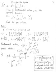 MATH 3650 Fundamental Matrix Notes