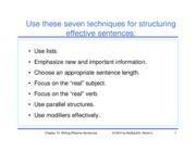 Chapter 10 - Writing Effective Sentences