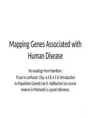 Disease mapping