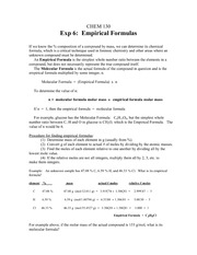 Empirical Formula Prelab-1