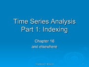 Time Series Analysis Indexing