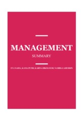 Management Summary FINAL