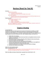 GEO207 Test 2 Review Sheet