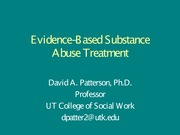 Substance-Related Treatment Presentation