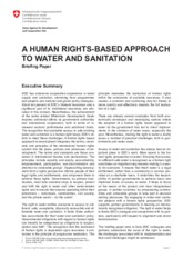 A HUMAN RIGHTS-BASED APPROACH TO WATER AND SANITATION