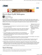 How to Start Up RC Helicopt...