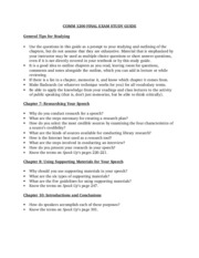 Final Exam Study Guide revised