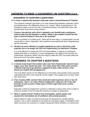 BA 715 Answers to Week 3 Assignment on Chapters 5 & 6