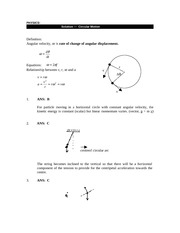 physics + circular motion solution