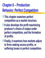 ECN 203 (6), Production Behavior -- Perfect Competition.ppt