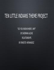 Ten Little Indians Theme Project.pptx