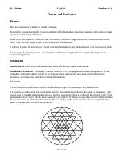 Handout 11 (Dreams and Meditation)