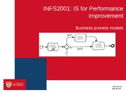 INFS2001 Lecture 9 - Business process models