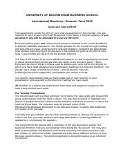 International Business  - Assessed tutorial brief 2016 (1).doc