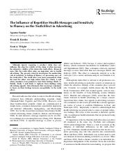 The Influence of Repetitive Health Messages and Sensitivity.pdf