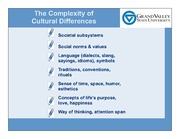 Complexity of Cultural Differences