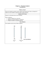 Chapter 6 - Truss Summary