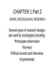 Intro to Soc Chapter 1 Part 2 Sociological Research-1.ppt