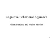 Cognitive Behavior Approach 2012