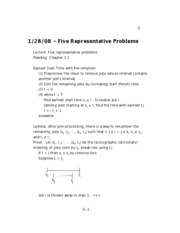 08 - Five Representative Problems