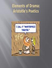 Aristotles Poetics1 Pptx Elements Of Drama Aristotles Poetics The Six Elements Of Drama   Plot Thought Language Music Spectacle Character