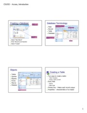 Access - Introduction table & forms
