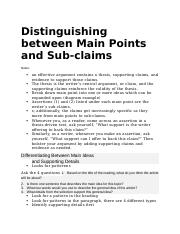 Distinguishing between Main Points and Sub.docx