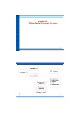 chapter 10 making capital investment decisions Chapter 10 making capital investment decisions learning objectives lo1 lo2 lo3 lo4 lo5 lo6 lo7 lo8 how to determine relevant cash flows for a proposed project.