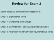 Review of Chapters 6-9