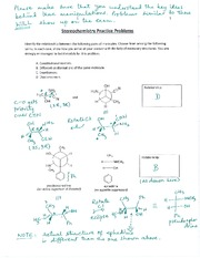 Stereochemistry practice problems - Summer 2015 - Answers