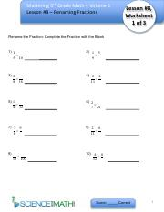 h - Master 5th Grade Math - Vol 1 - Worksheet 8 - Renaming Fractions.pdf