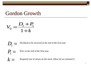 Bond Prices and Gordon Growth (1-26-2010)