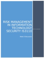 is3110 project part 2 Free essay: tony stark risk management project part 1 task 1  draft risk  management plan ernest martinez jr c flack is3110 october 22,  is 3220 it  infrastructure security project part 1: network survey project part 2:.