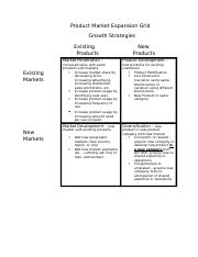 Product Market Expansion Grid - Growth Strategies(1)