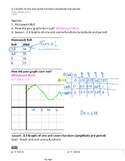 2.3 Graphs of sine and cosine functions (amplitude and period)