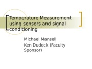 Temperature Measurement using sensors and signal conditioning