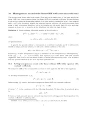 Introduction to Ordinary Differential Equations Lecture 10 Notes